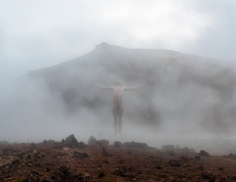 Nude self portrait Myvatn Iceland reflect by Zach Hyman Photography